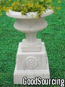 Marble Urn And Pedestal